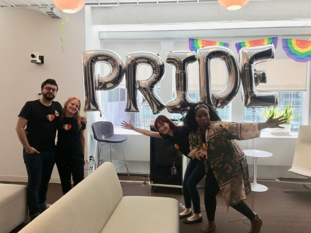 Pride Month celebrations in the Quantcast New York office